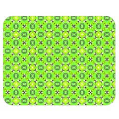 Vibrant Abstract Tropical Lime Foliage Lattice Double Sided Flano Blanket (medium)  by DianeClancy