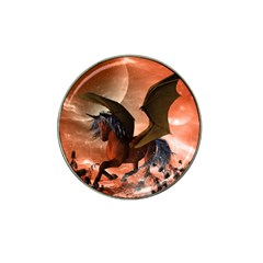 Wonderful Dark Unicorn In The Night Hat Clip Ball Marker (10 Pack) by FantasyWorld7