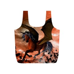 Wonderful Dark Unicorn In The Night Full Print Recycle Bags (S)  by FantasyWorld7