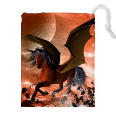 Wonderful Dark Unicorn In The Night Drawstring Pouches (xxl)