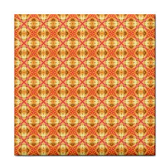 Peach Pineapple Abstract Circles Arches Tile Coasters by DianeClancy