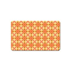 Peach Pineapple Abstract Circles Arches Magnet (name Card) by DianeClancy