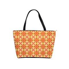 Peach Pineapple Abstract Circles Arches Shoulder Handbags by DianeClancy