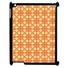 Peach Pineapple Abstract Circles Arches Apple Ipad 2 Case (black) by DianeClancy