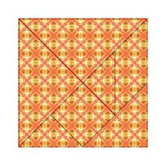 Peach Pineapple Abstract Circles Arches Acrylic Tangram Puzzle (6  X 6 ) by DianeClancy