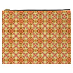 Peach Pineapple Abstract Circles Arches Cosmetic Bag (xxxl)  by DianeClancy