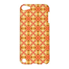 Peach Pineapple Abstract Circles Arches Apple Ipod Touch 5 Hardshell Case by DianeClancy
