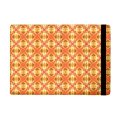 Peach Pineapple Abstract Circles Arches Apple Ipad Mini Flip Case by DianeClancy