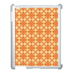 Peach Pineapple Abstract Circles Arches Apple Ipad 3/4 Case (white) by DianeClancy