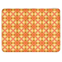 Peach Pineapple Abstract Circles Arches Samsung Galaxy Tab 7  P1000 Flip Case by DianeClancy