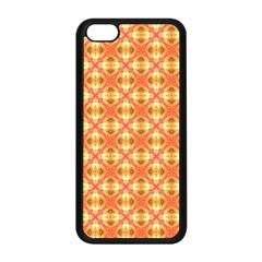 Peach Pineapple Abstract Circles Arches Apple Iphone 5c Seamless Case (black) by DianeClancy