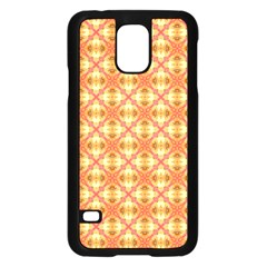 Peach Pineapple Abstract Circles Arches Samsung Galaxy S5 Case (black) by DianeClancy