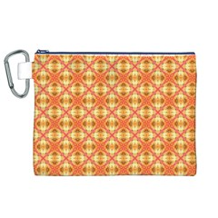 Peach Pineapple Abstract Circles Arches Canvas Cosmetic Bag (xl)  by DianeClancy