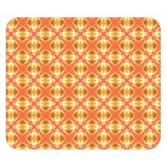 Peach Pineapple Abstract Circles Arches Double Sided Flano Blanket (small)  by DianeClancy
