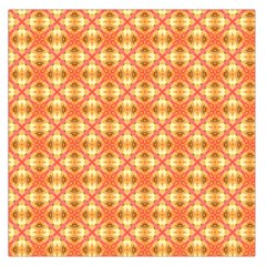 Peach Pineapple Abstract Circles Arches Large Satin Scarf (square) by DianeClancy