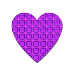 Abstract Dancing Diamonds Purple Violet Heart Magnet by DianeClancy