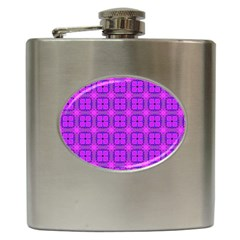 Abstract Dancing Diamonds Purple Violet Hip Flask (6 Oz) by DianeClancy