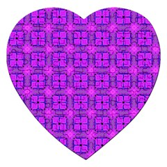 Abstract Dancing Diamonds Purple Violet Jigsaw Puzzle (heart) by DianeClancy