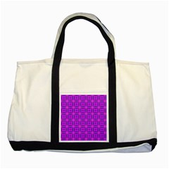 Abstract Dancing Diamonds Purple Violet Two Tone Tote Bag by DianeClancy