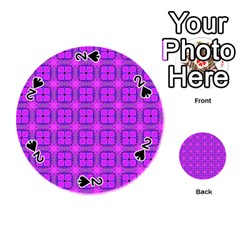 Abstract Dancing Diamonds Purple Violet Playing Cards 54 (round)  by DianeClancy