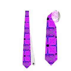 Abstract Dancing Diamonds Purple Violet Neckties (one Side)  by DianeClancy