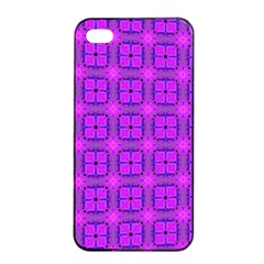 Abstract Dancing Diamonds Purple Violet Apple Iphone 4/4s Seamless Case (black) by DianeClancy