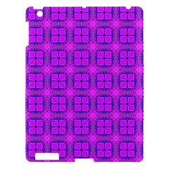 Abstract Dancing Diamonds Purple Violet Apple Ipad 3/4 Hardshell Case by DianeClancy