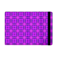 Abstract Dancing Diamonds Purple Violet Apple Ipad Mini Flip Case by DianeClancy