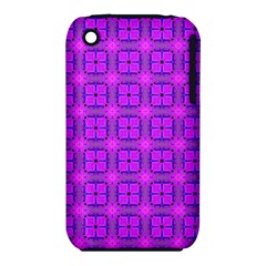 Abstract Dancing Diamonds Purple Violet Apple Iphone 3g/3gs Hardshell Case (pc+silicone) by DianeClancy