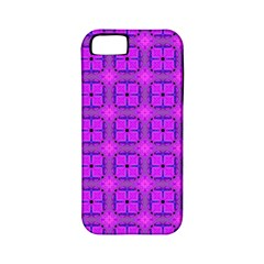 Abstract Dancing Diamonds Purple Violet Apple Iphone 5 Classic Hardshell Case (pc+silicone) by DianeClancy