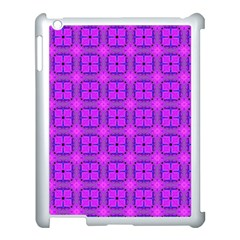 Abstract Dancing Diamonds Purple Violet Apple Ipad 3/4 Case (white) by DianeClancy