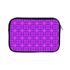 Abstract Dancing Diamonds Purple Violet Apple Ipad Mini Zipper Cases by DianeClancy