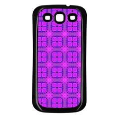 Abstract Dancing Diamonds Purple Violet Samsung Galaxy S3 Back Case (black) by DianeClancy