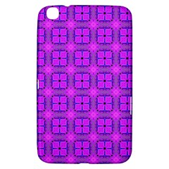 Abstract Dancing Diamonds Purple Violet Samsung Galaxy Tab 3 (8 ) T3100 Hardshell Case  by DianeClancy