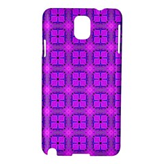 Abstract Dancing Diamonds Purple Violet Samsung Galaxy Note 3 N9005 Hardshell Case by DianeClancy