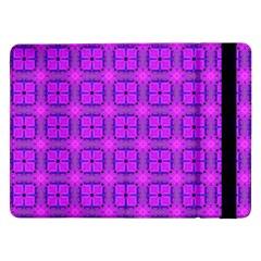 Abstract Dancing Diamonds Purple Violet Samsung Galaxy Tab Pro 12 2  Flip Case by DianeClancy