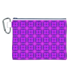 Abstract Dancing Diamonds Purple Violet Canvas Cosmetic Bag (l) by DianeClancy