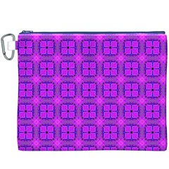 Abstract Dancing Diamonds Purple Violet Canvas Cosmetic Bag (xxxl)  by DianeClancy