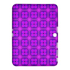 Abstract Dancing Diamonds Purple Violet Samsung Galaxy Tab 4 (10 1 ) Hardshell Case  by DianeClancy