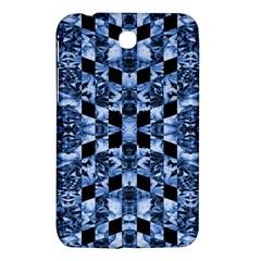 Indigo Check Ornate Print Samsung Galaxy Tab 3 (7 ) P3200 Hardshell Case  by dflcprints