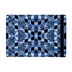 Indigo Check Ornate Print iPad Mini 2 Flip Cases by dflcprints