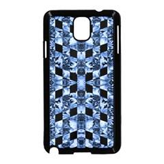Indigo Check Ornate Print Samsung Galaxy Note 3 Neo Hardshell Case (black) by dflcprints