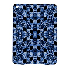Indigo Check Ornate Print Ipad Air 2 Hardshell Cases by dflcprints