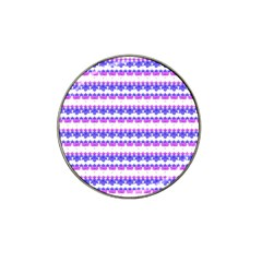 Floral Stripes Pattern Hat Clip Ball Marker (10 Pack) by dflcprints