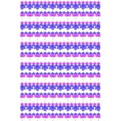 Floral Stripes Pattern 5 5  X 8 5  Notebooks by dflcprints