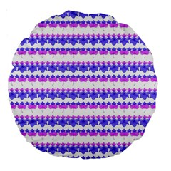 Floral Stripes Pattern Large 18  Premium Round Cushions by dflcprints