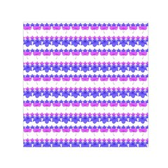 Floral Stripes Pattern Print Small Satin Scarf (square) by dflcprintsclothing
