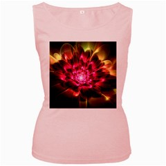 Red Peony Women s Pink Tank Top by Delasel