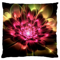 Red Peony Standard Flano Cushion Case (two Sides) by Delasel
