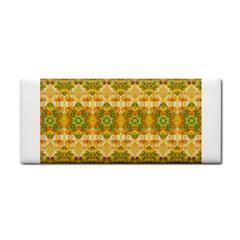Boho Stylized Floral Stripes Hand Towel by dflcprints